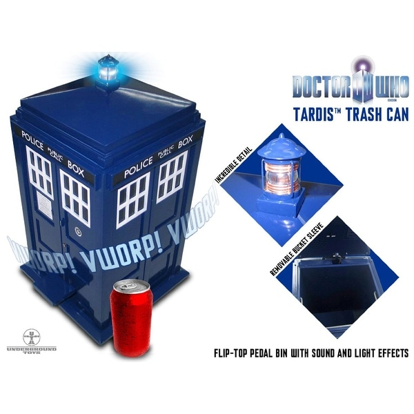 Doctor Who TARDIS Waste Basket with LED Lights & Sound - Multi