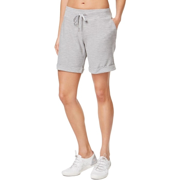 278f52b9eece Shop Calvin Klein Performance Womens Shorts French Terry Cuffed ...