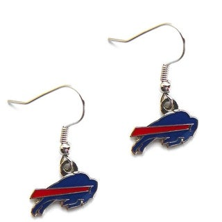 Buffalo Bills Dangle Logo Earring Set Charm Gift NFL