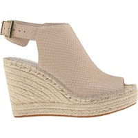 Kenneth Cole Womens Olivia Perf Leather Open Toe Casual Espadrille Sandals