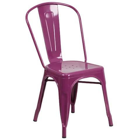 Metal Indoor/ Outdoor Stackable Chair