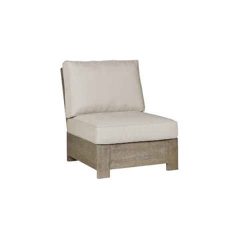 Silo Point Brown Armless Chair with Cushion