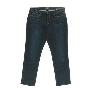 Lucky Brand Womens Sweet N Straight Mid-Rise Dark Wash Straight Leg Jeans