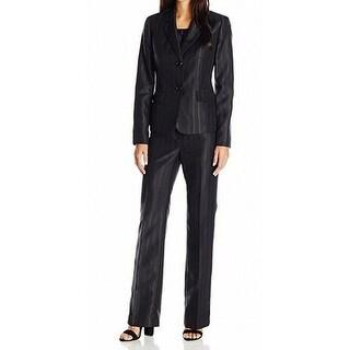 Le Suit NEW Black Women's Size 6 Pinstriped Three-Piece Pant Suit Set
