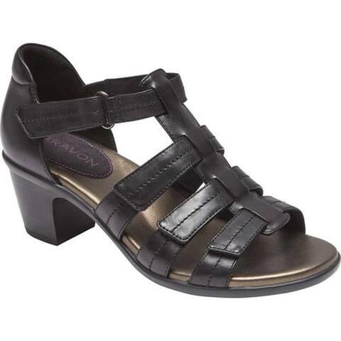 Aravon Women's Medici II Gladiator Sandal Black Leather