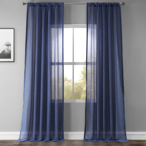 Exclusive Fabrics Faux Linen Sheer Curtain (1 Panel)