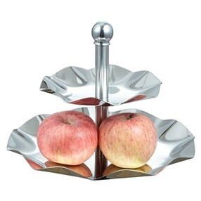 Visol VAC369 Leaf Tray Two Tiered Tray for Desserts, Cupcakes, Fruits, Cheese