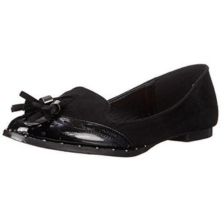 Qupid Womens Malibu-12 Faux Suede Brogue Loafers