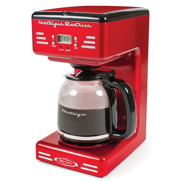 Nostalgia RCOF12RR Retro 12-Cup Programmable Coffee Maker. Opens flyout.