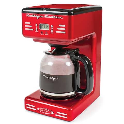 Nostalgia RCOF12RR Retro 12-Cup Programmable Coffee Maker