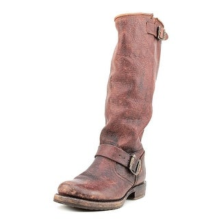 Frye Veronica Slouch Women Round Toe Leather Brown Knee High Boot