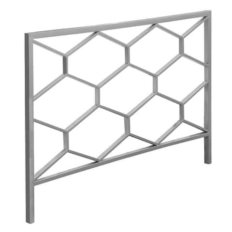 59.75 inch  Gray Honeycomb Design Rectangular Headboard Frame - Queen Size