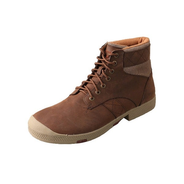 Twisted X Casual Shoes Mens Lace Up Driving Moc Crazy Horse
