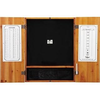 Viper Metropolitan Oak Steel Tip Dartboard Cabinet / 40-0402