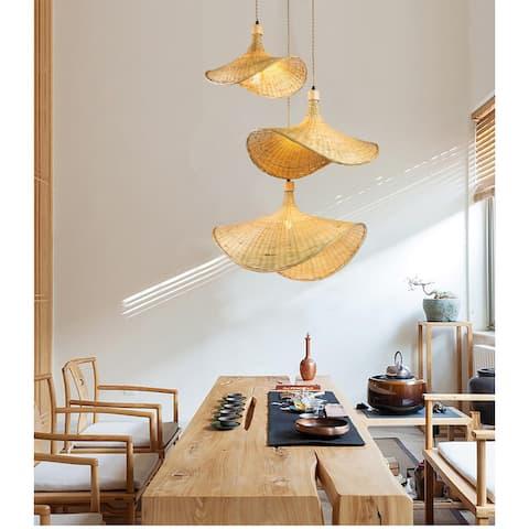Three Lights Unique Rattan Pendant Light