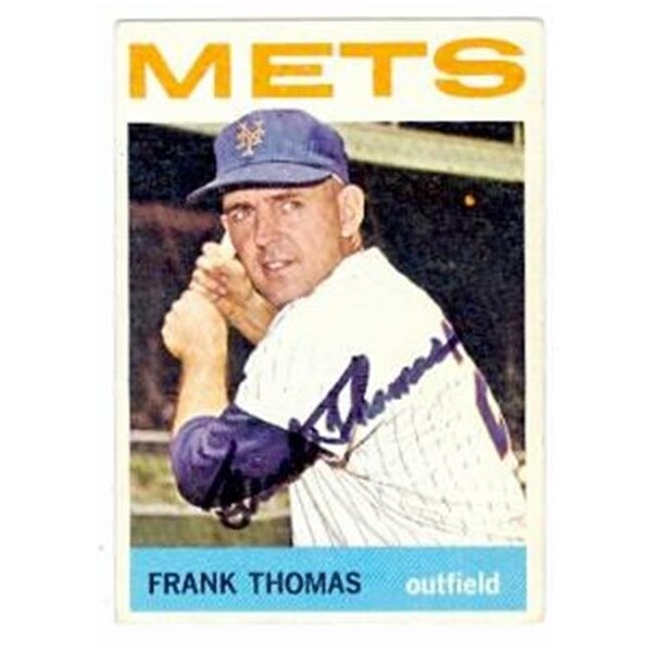 Frank Thomas Autographed Baseball Card New York Mets 1964 Topps No