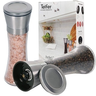 Telfer Stainless Steel Salt and Pepper Grinder (Set of 2)