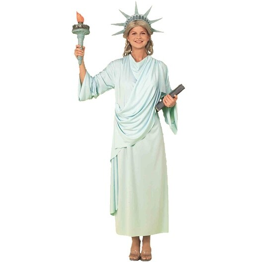 3a2238e0 Shop Forum Novelties Classic Miss Liberty Adult Costume - Blue - Standard - Free  Shipping On Orders Over $45 - Overstock - 15422052