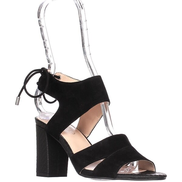 Franco Sarto Gem Ankle Tie Sandals, Black