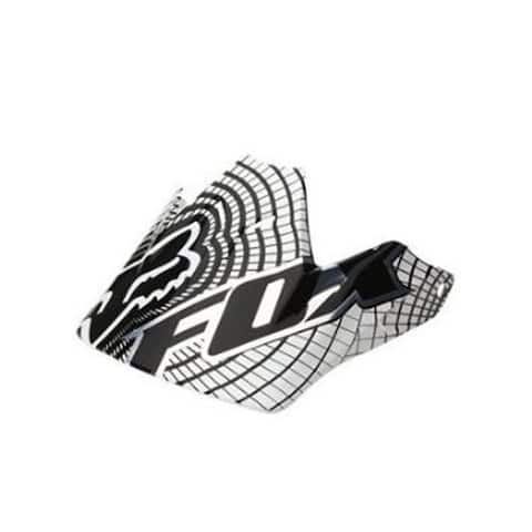 Fox Racing 2015 Replacement Visor for V3 Vortex Helmet - 91524 - WHITE/BLACK