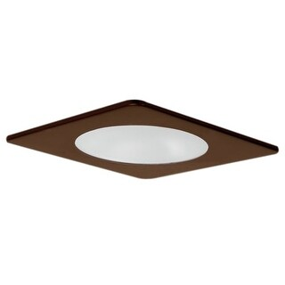 "Elco EL2912 4"" Square Shower Trim with Frosted Lens"
