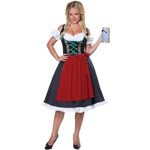 California Costumes Oktoberfest Fraulein Adult Costume - Red/Green