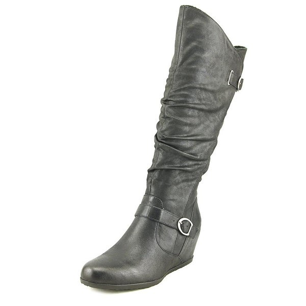 Baretraps Tender Women Round Toe Synthetic Black Knee High Boot