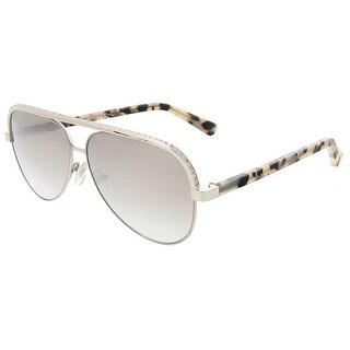 Jimmy Choo LINA/S 0J8B Light Gold Aviator sunglasses