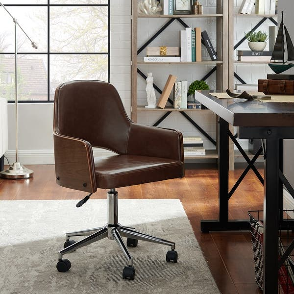 Shop Art Leon Bentwood Back Home Office Chair With Caster Overstock 31762519 Gray