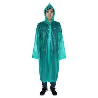 Outdoor Travel EVA Portable Rainwear Button Closure Raincoat Rain Poncho Green