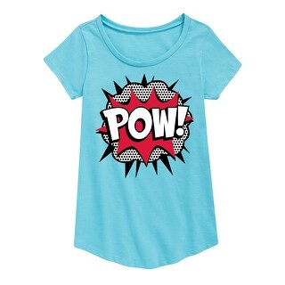 Pow - Youth Girl Short Sleeve Curved Hem Tee