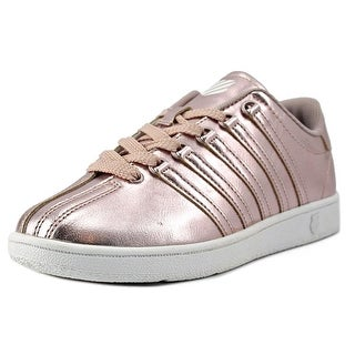 K-Swiss Classic VN Youth Round Toe Leather Pink Sneakers