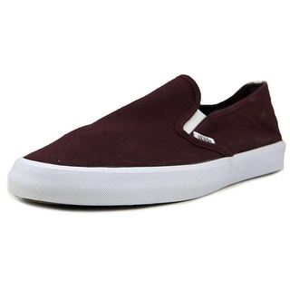 Vans Slip-on SF Men  Round Toe Canvas Burgundy Sneakers
