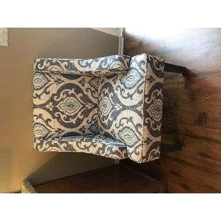 Copper Grove Boulogne Classic Swoop Chair with Suri Blue Upholstery