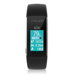 Polar A360 Fitness Tracker w/ Wrist-Based Heart Rate Data (Black)-Large