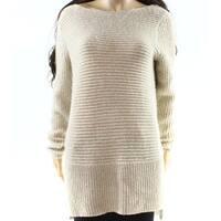 Rafaella Beige Women's Size Large L Shimmer Boat Neck Sweater