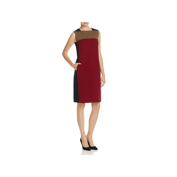 Shop Lafayette 148 New York Womens Wear To Work Dress Colorblock