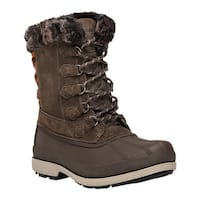 Propet Women's Lumi Tall Lace Duck Boot Brown Suede