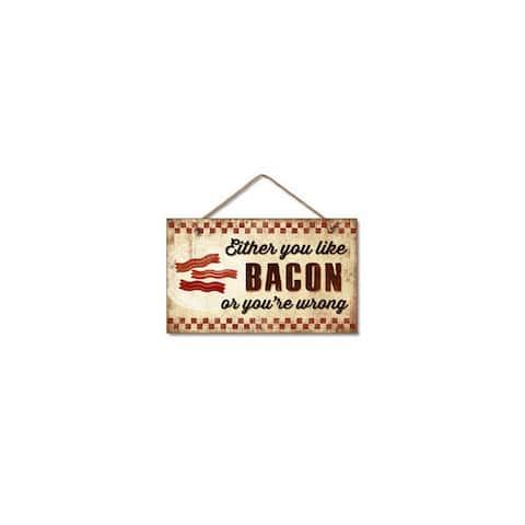 Highland woodcrafters llc 4101392 9 5x5 5 bacon wood sign