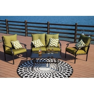 Link to PATIO FESTIVAL ® 4-Piece Outdoor Conversation Seating Group Set Similar Items in Outdoor Loveseat