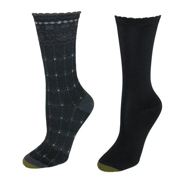 Gold Toe Women's Microfiber Gabriella Dress Sock (2 Pair Pack)