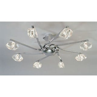 Mantra Lighting 411 Alfa 7 Light Semi-Flush Ceiling Fixture