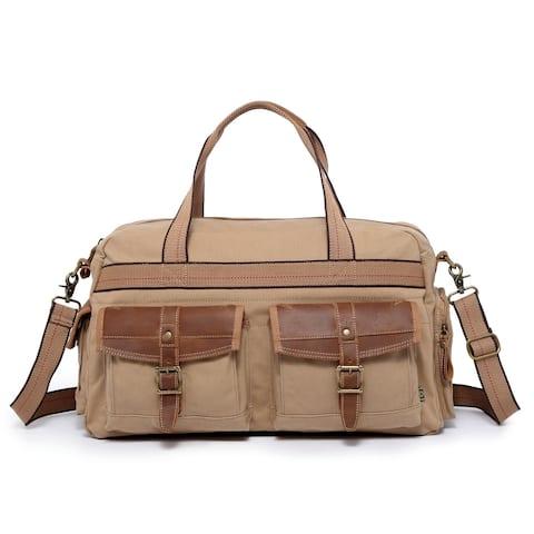 TSD Brand Turtle Ridge Canvas Weekender Bag