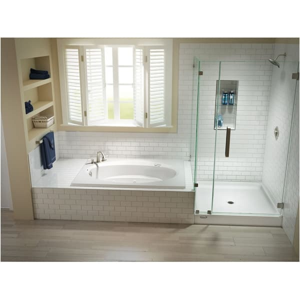 Jacuzzi J4d7242 Wlr 1xx 72 X 42 Signature Drop In Whirlpool Bathtub White Overstock 18831592