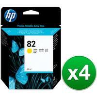 HP 82 69-ml Yellow DesignJet Ink Cartridge (C4913A) (4-Pack)