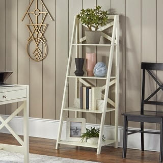 Link to Simple Living  4-Tiered X-Frame Farmhouse Shelf Similar Items in Bookshelves & Bookcases