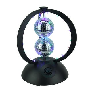 Framed Duo Glass Disco Balls Accent Lamp