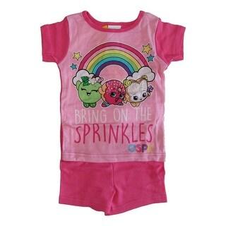 "Shopkins Girls Fuchsia ""Bring on the Sprinkles"" Short Sleeve 2 Pcs Pajama"