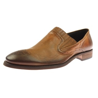 Bacco Bucci Mens Cork Leather Distressed Loafers - 13 medium (d)