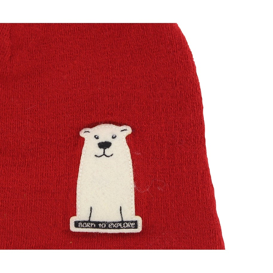 ab6906d62 The North Face Baby Boys Friendly Faces Polar Bear Beanie Red XS - Red/Off  White